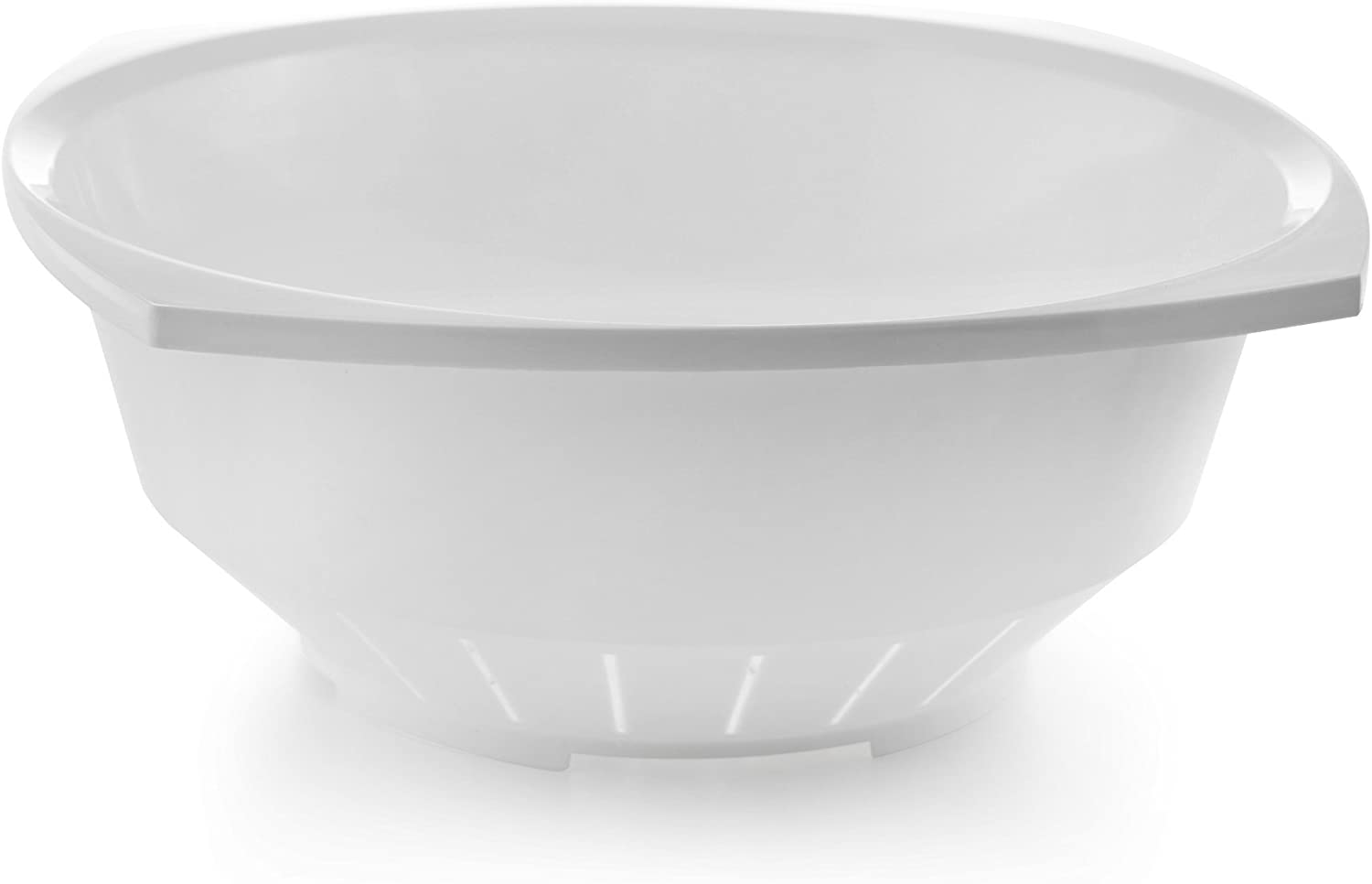 YBM Home 10 Inch Square Plastic Colander– Made of Food Safe BPA-Free Plastic - Durable and Dishwasher Safe - Use for Pasta, Noodles, Spaghetti, Vegetables and More 31-1126-white (1, White)