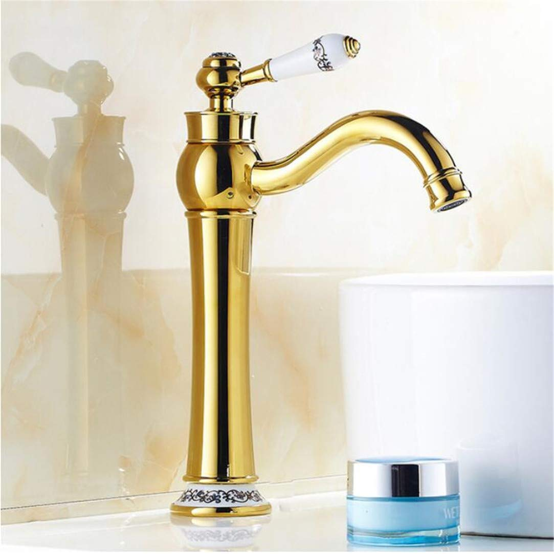 Bathroom Basin Faucet hot and Cold, Antique Style Brass Sink Basin Faucet Mixer Wholesale