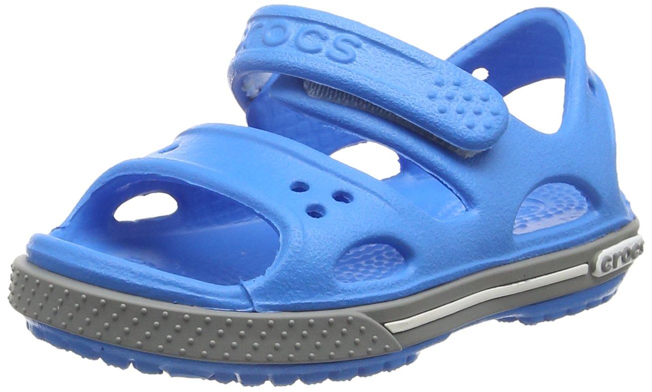 Crocs Kid's Boys and Girls Crocband II Sandal | Pre School Flat, Ocean/Smoke, 9 M US Toddler