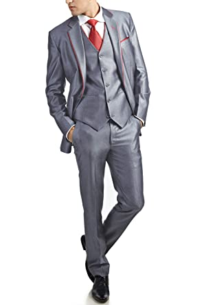 Shining 3 Piece Wedding Suit: Amazon.in: Clothing & Accessories