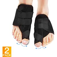 Bunion Corrector with Self-Adhesive Buckle Design Bunion Splint with Gel Toe Separators and Protect Sleeves Bunion Pain Relief Kit for Hallux Valgus Day Night Time Support for Women Men 1 Pair