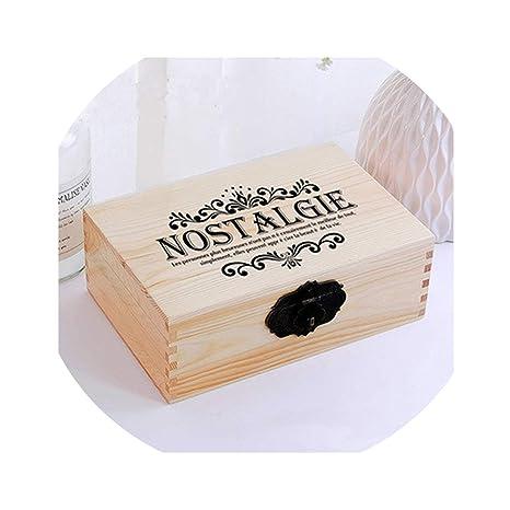 Amazon.com: Caja de almacenamiento de madera estilo egipcio ...