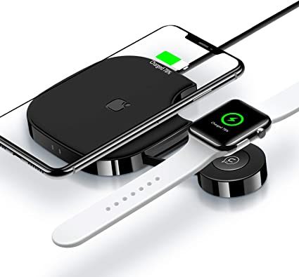 Amazon Com 2 In 1 Wireless Charger For Apple Watch Wireless Charger Pad Stand Qi Fast Wireless Charging Station For Apple Watch Series 4 3 2 1 Airpods 2 Iphone Xs Max Xr X 8 Plus 8 Samsung Note 9 8 And More Home