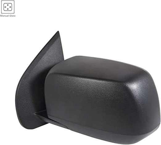Partslink CH1320425 Ch 2016-2018 Dodge Journey Driver Side Power Door Mirror; With Heated Glass; Textured Cover Flat Glass