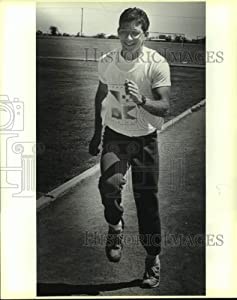 Historic Images 1988 Press Photo Chris Davis, Madison High School Track 400 Meter Runner 10x8 in