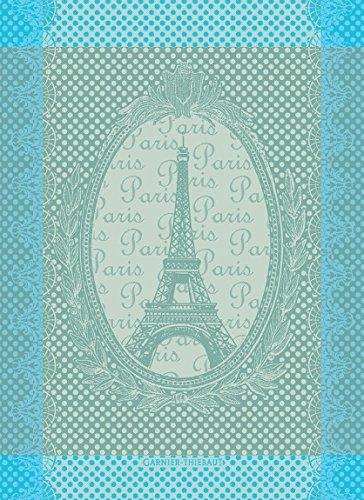 Garnier Thiebaut, Eiffel Vintage (Vintage Eiffel Tower) Celadon, 22 by 30