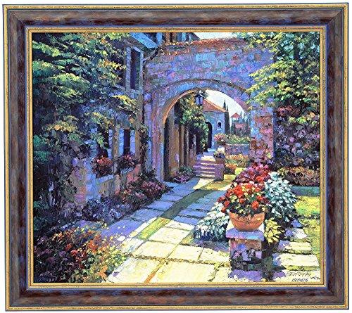 Howard Behrens VILLA MORNING Canvas Framed Signed & Numbered Limited Edition CANVAS - Howard Behrens Villa