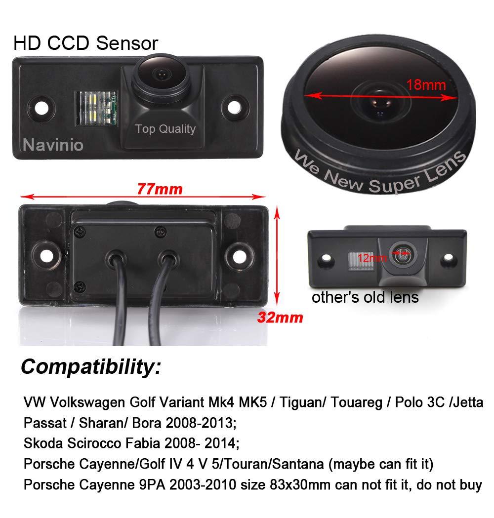 ... la Matrícula,Visión Nocturna & Impermeable Retrovisor Camara para VW Golf/Tiguan/Touareg/Polo/Passat/Bora/Skoda/Porsche Cayenne: Amazon.es: Electrónica