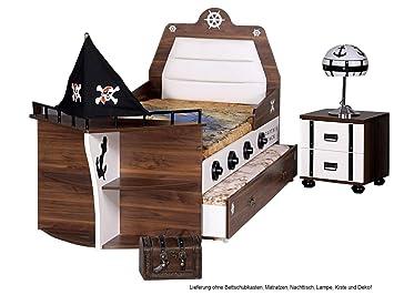 Kinderzimmer junge pirat  Kinderbett Pirat Bett Junge Mädchen Bett Schiff Kinderzimmer ...