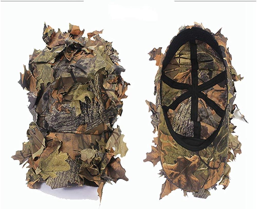 Camouflage, Einheitsgr/ö/ße Hongding Bionic Leaf Cap Military Boonie Hats Outdoor Sport 3D Camouflage Angelhut Man Jagd CS Camping Dschungel Bionic Leaves Cap Tactical Klettern Breite Krempe Cap