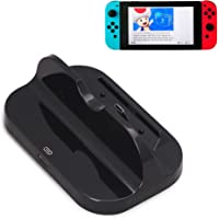 Nintendo Switch Charging Station Dock, Walway USB Type-C Charge Cradle Stand Playstand for N-Switch Console