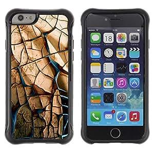 LASTONE PHONE CASE / Suave Silicona Caso Carcasa de Caucho Funda para Apple Iphone 6 PLUS 5.5 / STONE WALL