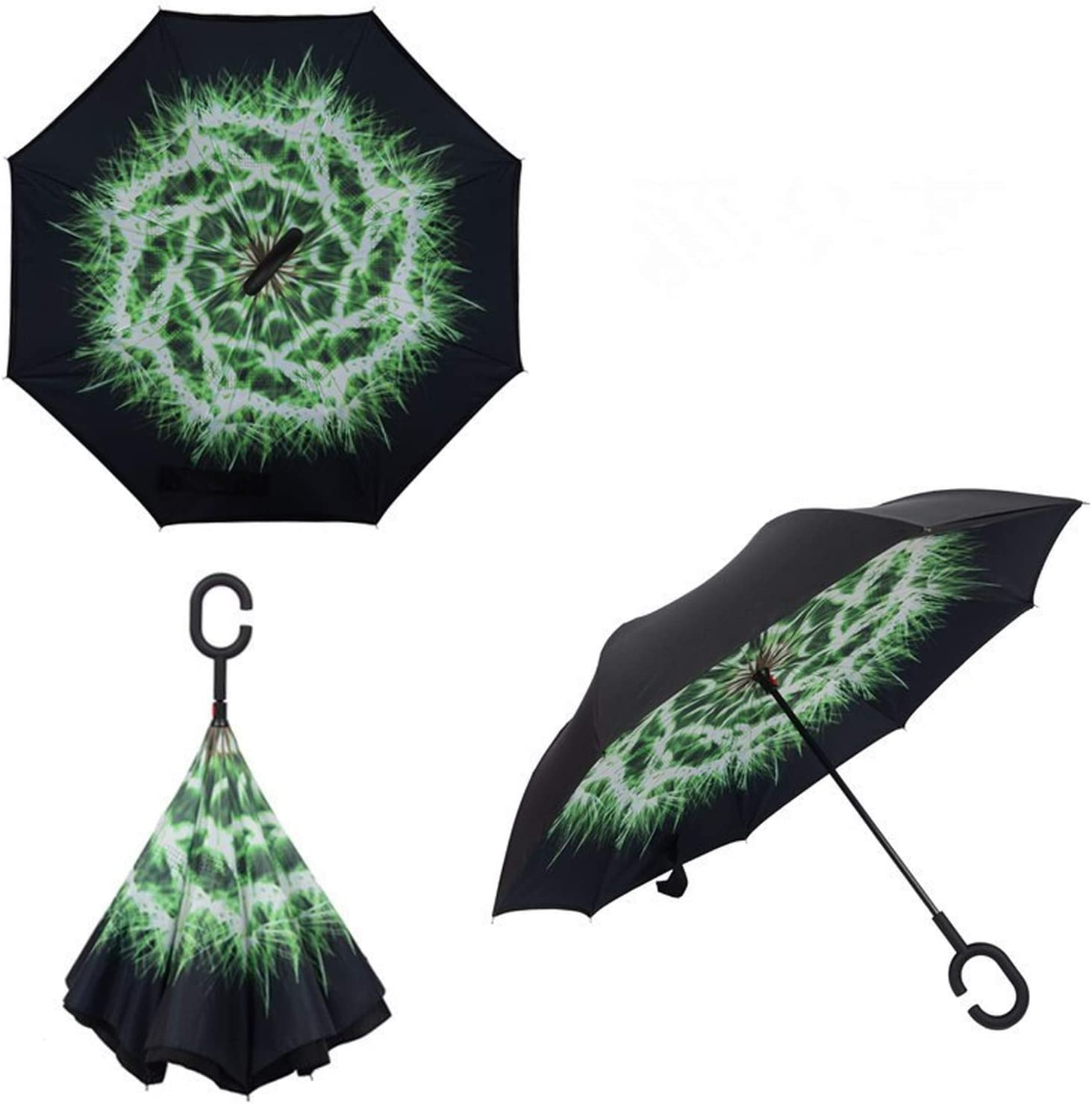 Double Reverse Umbrella Stand Men And Women Umbrellas Creative Windproof Car Hands-Free Whole