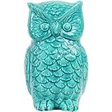 Urban Trends Ceramic Owl Figurine, Gloss Turquoise