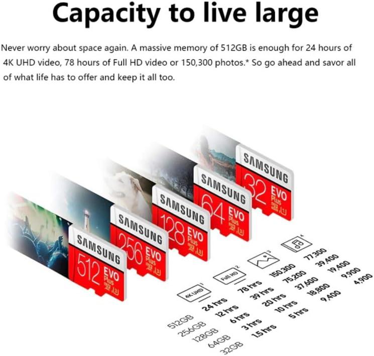 JIAX Memory Card EVO Class 10 32GB 64GB 128GB Micro SD Card 256GB SDHC SDXC C10 UHS TF Card Trans Flash,512gb