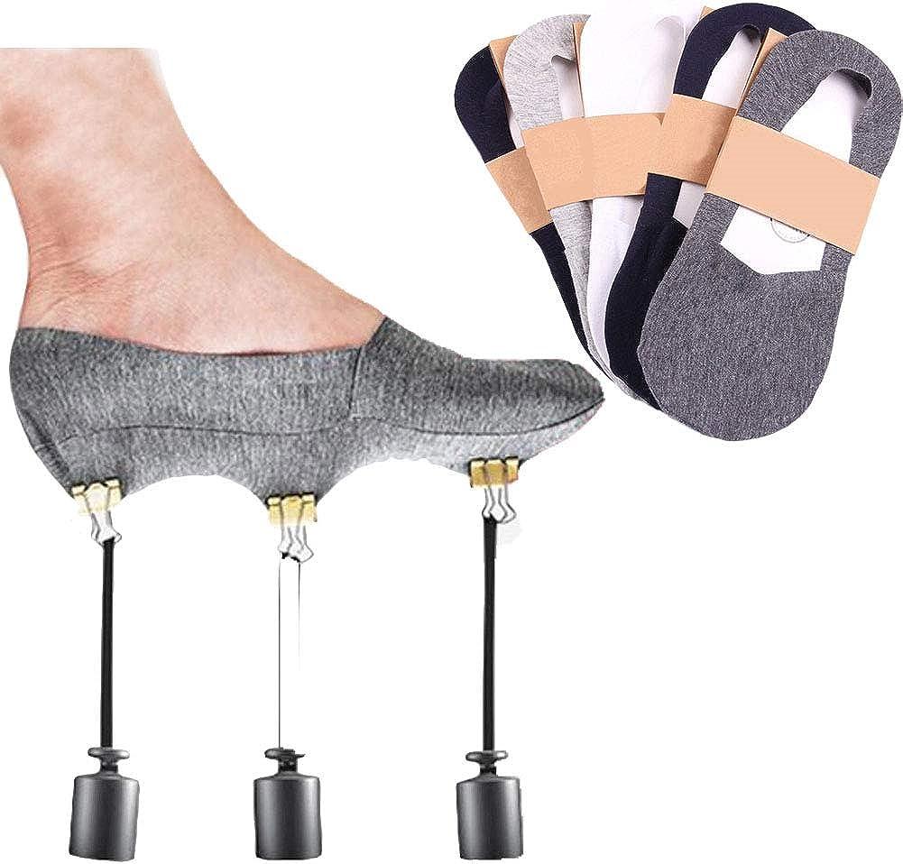 Colorcasa Anti Slip Unisex Silicone No Show Socks 5 Pairs Set Black At Amazon Women S Clothing Store