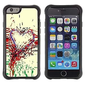 LASTONE PHONE CASE / Suave Silicona Caso Carcasa de Caucho Funda para Apple Iphone 6 / Heart Art Colorful Painting Paint Drops Love