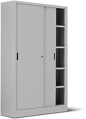 ITALFROM Armario de Metal Gris para Oficina con Puertas correderas ...