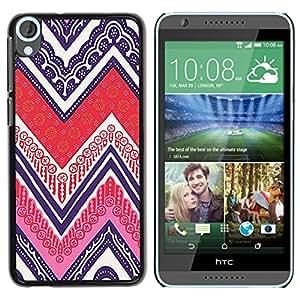Estuche Cubierta Shell Smartphone estuche protector duro para el teléfono móvil Caso HTC Desire 820 / CECELL Phone case / / Cards Poker Ink Purple Pattern /