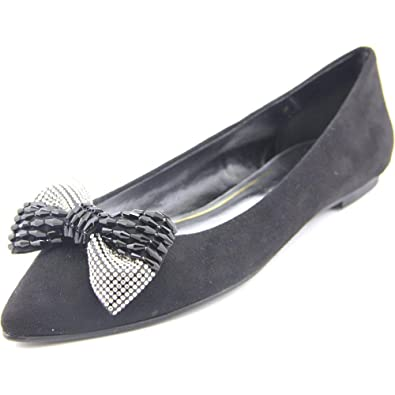 Caparros Zuzana Women Pointed Toe Synthetic Black Flats Black Size 85
