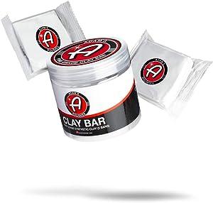 Adam's Fine Grade Clay Bar Kit 200g - Premium Car Detailing Clay Fallout Remover of Light Contamination Tree Sap & Grime | Use W/Detail Spray Car Wash Kit Car Wax Buffer Polisher Ceramic Coating
