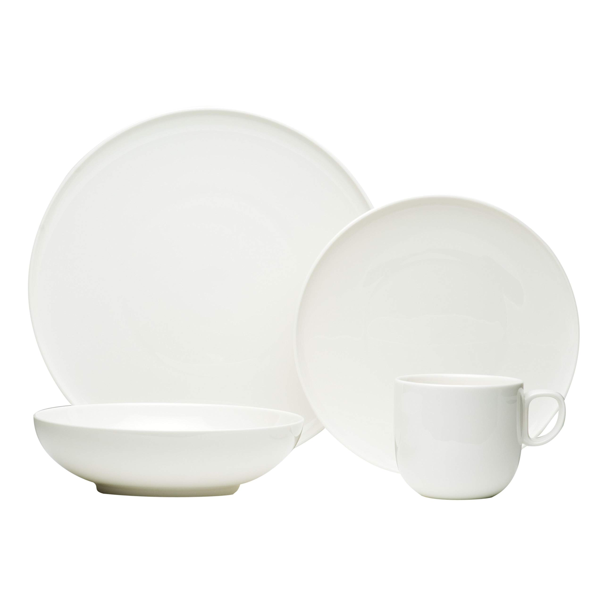 Red Vanilla ET1900-016 16 Piece Every Time Dinner Set, White