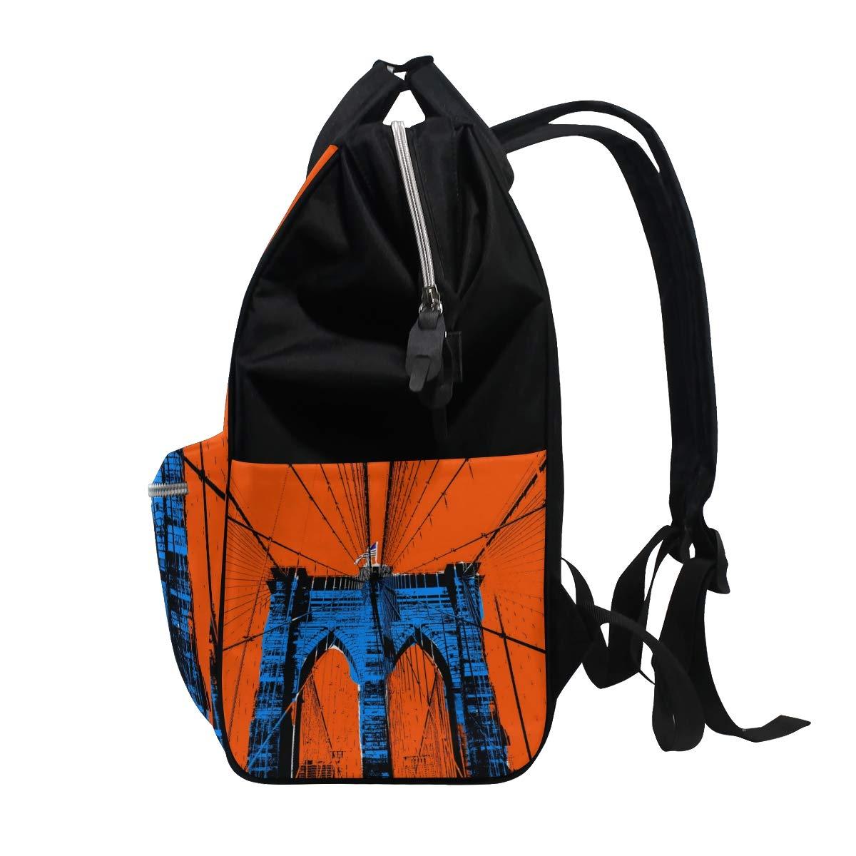 imobaby Amazing Brooklyn Bridge Landscape Changing Bags Large Capacity Handbags Canvas Shoulder Bag Backpack