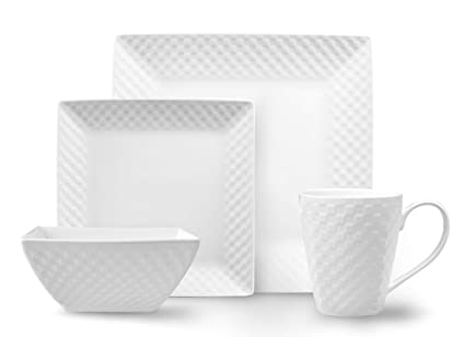Amazoncom Roscher Basketweave Dinnerware Dish Set 32 Piece