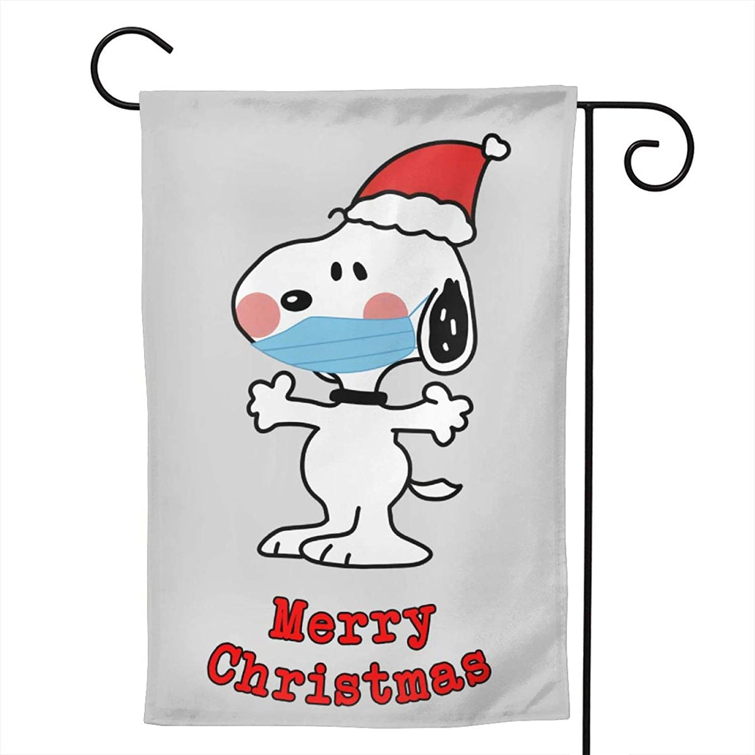 POLKJIH Snoopy Garden Flag Double-Sided Printing Not Easy to Fade for Thanksgiving Christmas Outdoor Decor 12.5