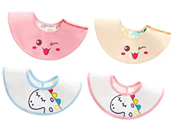 Baby Boy Girl Waterproof Bibs Toddler Cartoon Food Feeding Saliva Drool Bandana