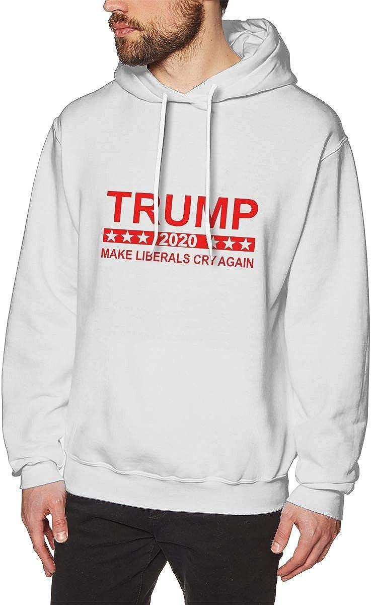 Make Liberals Cry Again Mens Hooded Sweatshirt Theme Printed Fashion Hoodie Trump 2020