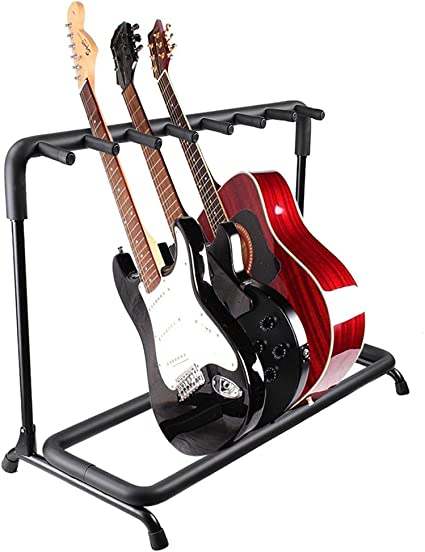 High Quality 7 Guitar Stand Multiple Seven Instrument Display Rack Folding