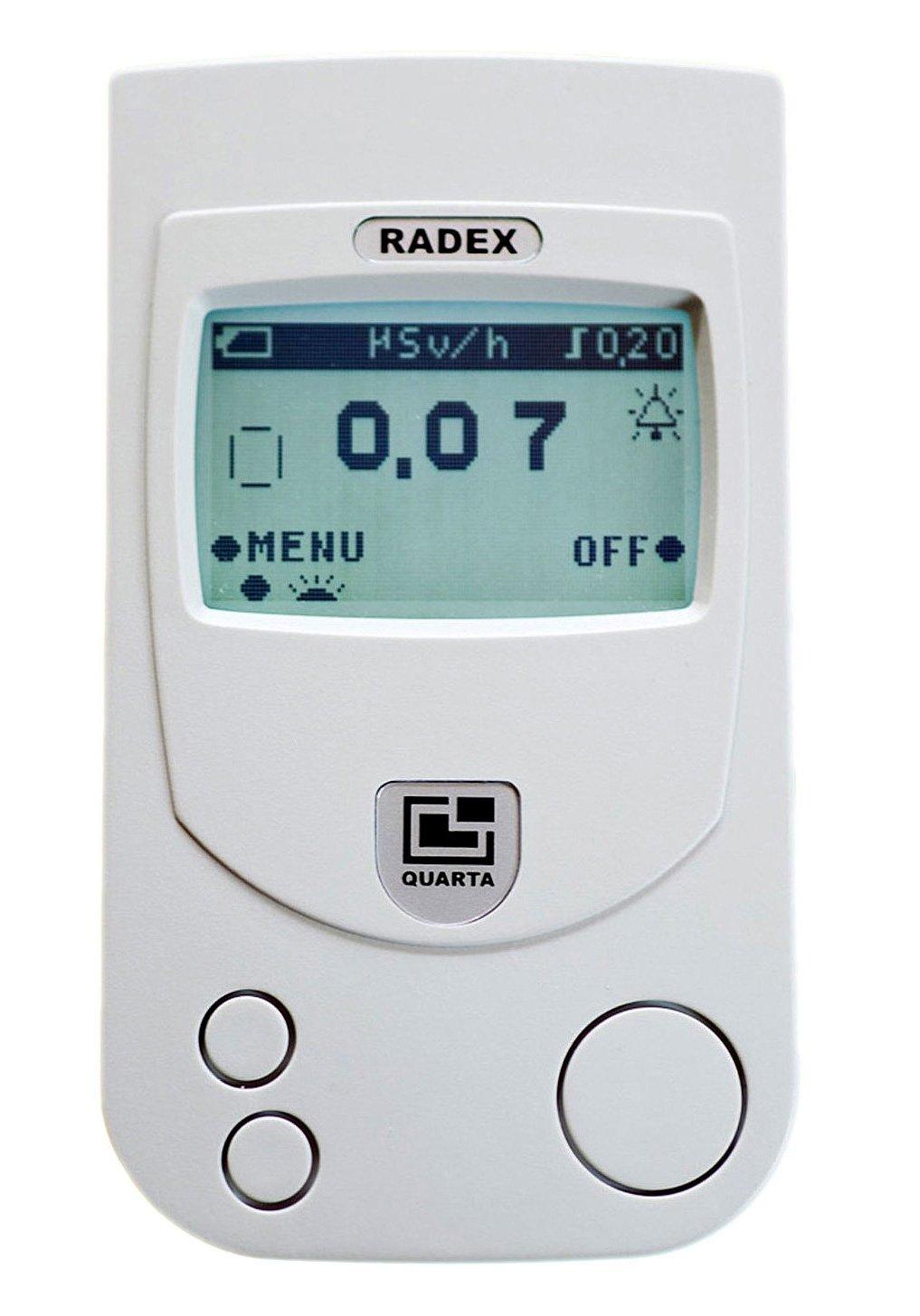 RADEX RD W O Dosímetro: alta precisión contador Geiger detector de radiación