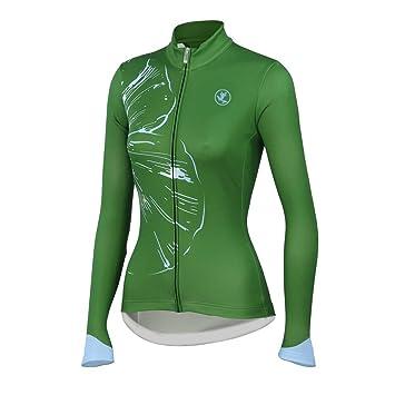 e2f994c14c4e8 Uglyfrog Otoño e Invierno Mujer Ropa Ciclismo Maillot Mangas largas  Camiseta de Ciclistas Cómodo Respirable Secado rápido de Bicicletas Cuerpos  Triatlón ...
