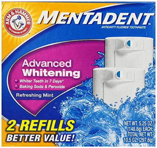 ARM & Hammer Mentadent Advanced Whitening 2 refills  5.25 Oz by Arm & Hammer