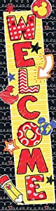 """Eureka Mickey Color Pop! Vertical Classroom Banners, Welcome, Measures 45 x 12"""""""