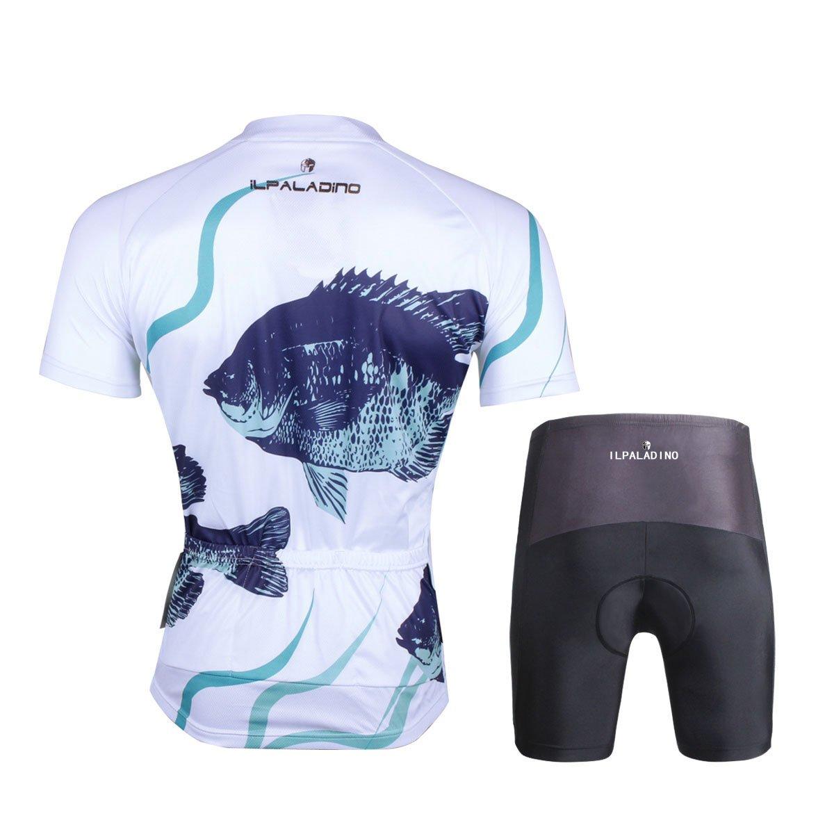 Amazon.com   Ilpaladino Men s White Cycling Shirts Fish Pattern Bike Jerseys  Tight Design   Sports   Outdoors ba05cb5cd