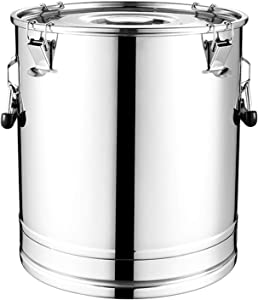 Food Grade Stainless Steel Sealed Barrel, Thickened Large-capacity Bucket, Can Hold Wine/oil/milk Etc Liquid (Size : 35L)