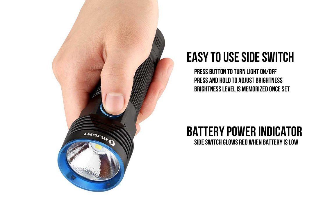 4009d7b865a59 Amazon.com  OLIGHT R50 PRO Seeker 3200 Lumens CREE XHP70 LED Rechargeable  Flashlight Searchlight with 26650 Battery