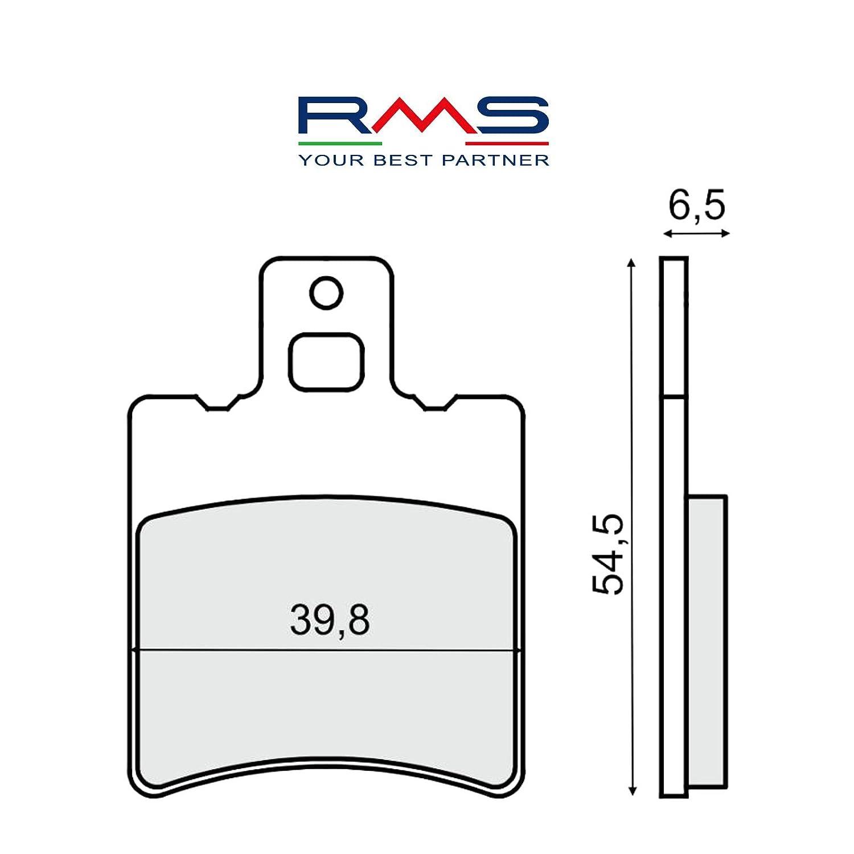 Coppia pastiglie freno anteriori RMS 225103210 Scarabeo/Runner/Booster/Sfera/Zip Motocar