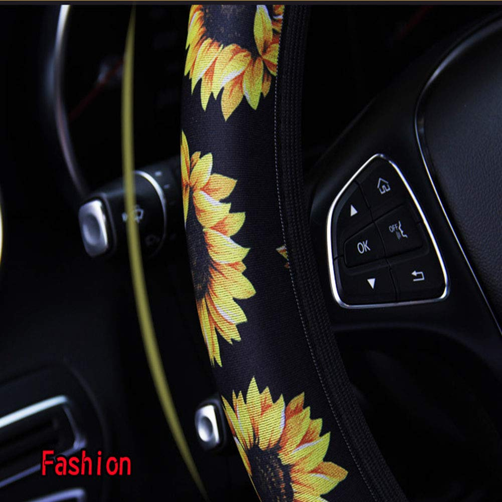 AHSN flower Steering Wheel Cover cactus car Accessories Cute and Fashionable cactus Steering Wheel Cover 17 inch Universal Steering Wheel Cover for women