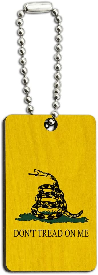 Graphics and More Gadsden Flag Dont Tread On Me Wood Wooden Rectangle Key Chain