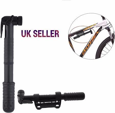 Portable Mini Bicycle Bike Pump Multi Valve Fitment Tyre Inflator Lightweight