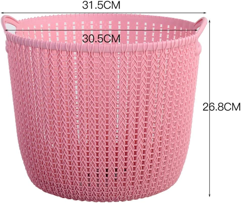 Gljjqmy Plastic Laundry Basket Hamper Storage Rattan Exterior With Lid And Insert Handle Storage Basket Color Pink Size 31 5 26 8cm Amazon Co Uk Kitchen Home