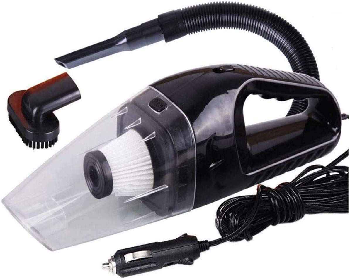 12v Handheld High Power Car Vacuum Cleaner, Carpet Cleaner for Car 120W 4000pa with Cigarette Plug Cleaning Pet Hair, Soot, Bread Crumbs and etc - Black