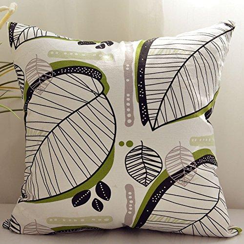 BLUETTEK Cotton Linen Square Decorative Throw Pillow Case Cu