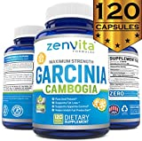[ 85% HCA ] Pure Garcinia Cambogia Extract - [ NO CALCIUM ADDED ], MAX 3000 mg Daily. 90 tablets PER Bottle, 750 mg PER tablet. All Natural Best Premium Quality Appetite Suppressant Weight Loss Supplement. 100% Money Back Guarantee by ZenVita Formulas
