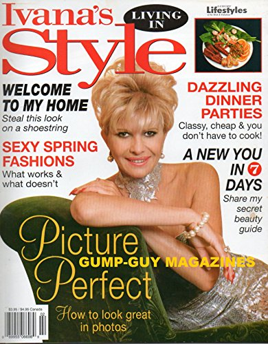 Cheap  Ivana's Living In Style Magazine WELCOME TO MY HOME Dazzling Dinner Parties..