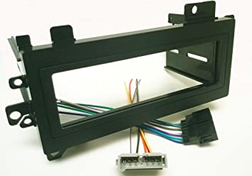 amazon com dash kit and wire harness for installing a new single dash kit and wire harness for installing a new single din radio into a chrysler cirrus