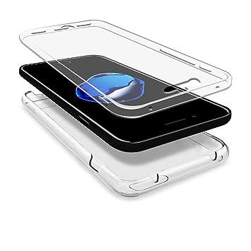 b13a6d2b98a Funda Para Apple iPhone 8, Carcasa TPU Full Cover 360 Compatible con Apple  iPhone 8, Grados Antigolpes Integral Silicona e acrílico Fina Resistente ...